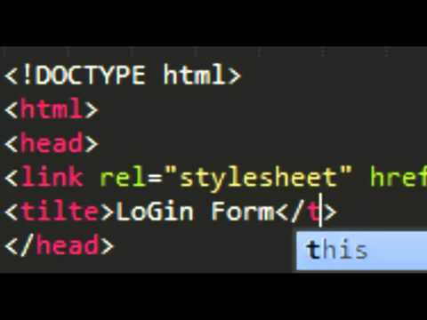 Tutorial - Login Form With HTML5 And CSS3 - Part1