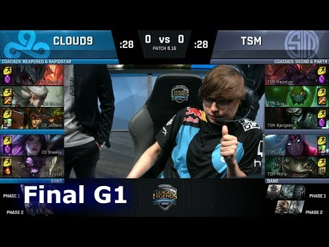 Cloud 9 vs TSM  Game 1  Final of S8 NA Regional Qualifier for S8 Worlds 2018  TSM vs C9 G1