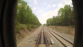 Amtrak Train 79 - Doswell, VA to Richmond Staples Mill Rear View