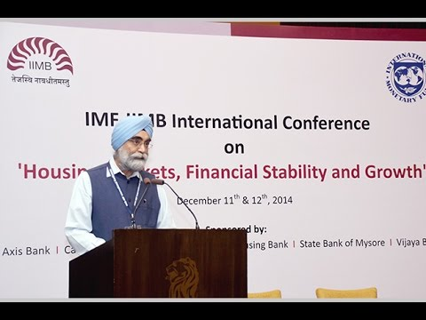 Inaugural address of IMF-IIMB conference on 'Housing Markets'