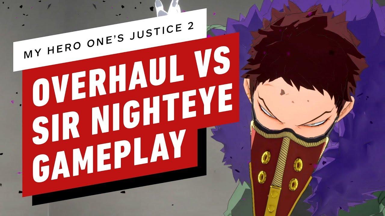 My Hero One's Justice 2 - análise VS Sir Nighteye gameplay + vídeo