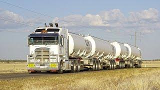 Road Trains at Hughenden : Queensland, Australia