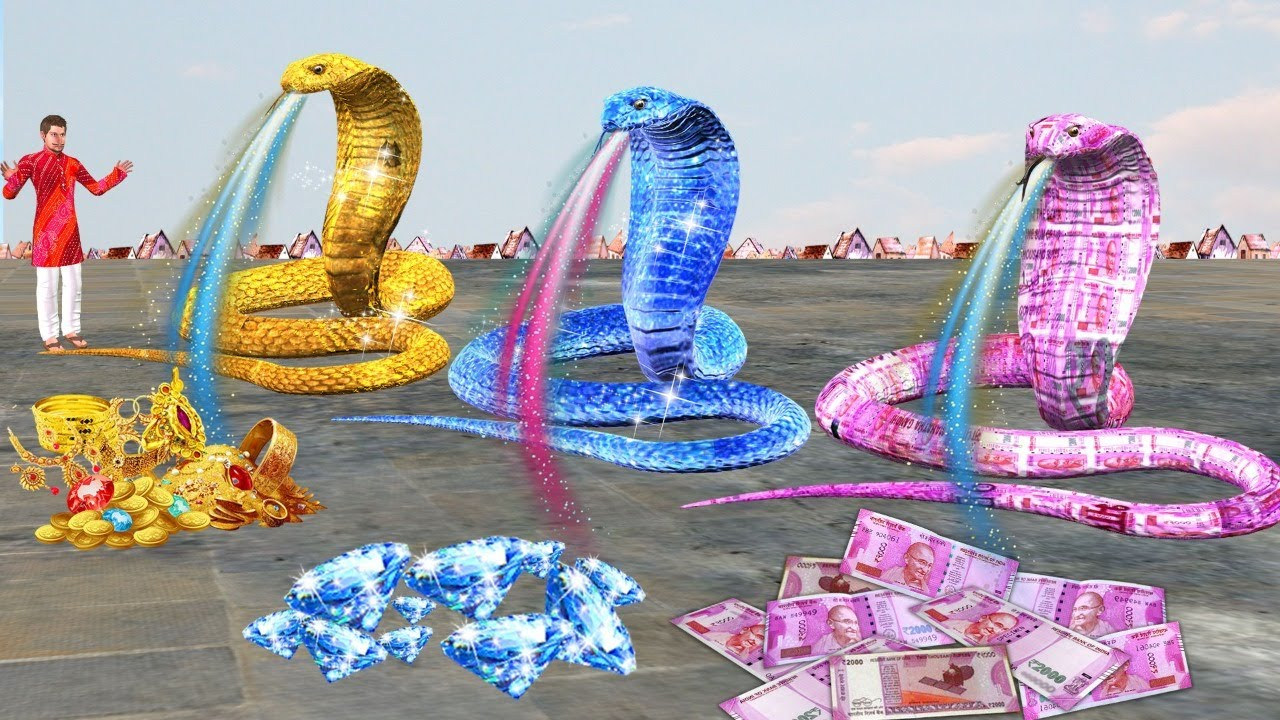 तीन जादुई सांप Teen Jadui Magical Money Snake Comedy Video Hindi Kahaniya हिंदी कहानिया Comedy Video