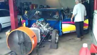 Plymouth Drag Car Dyno 601 HP