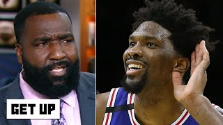 Kendrick Perkins is 'disturbed' by Joel Embiid's highlights vs. Hawks | Get Up