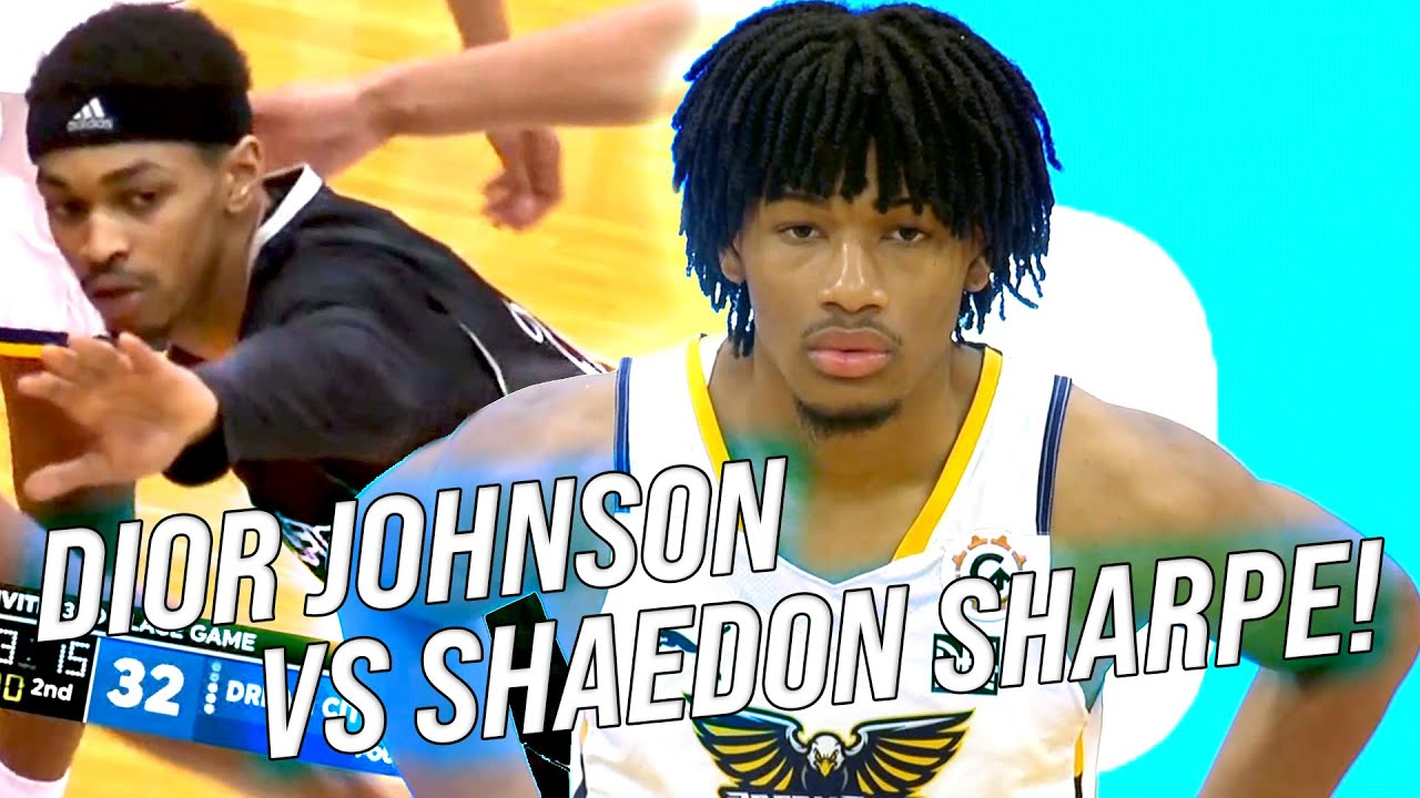 Download Dior Johnson VS Shaedon Sharpe! #1 & #15 2022 Guards Go Head To Head! MJ Price Is TOO STRONG!