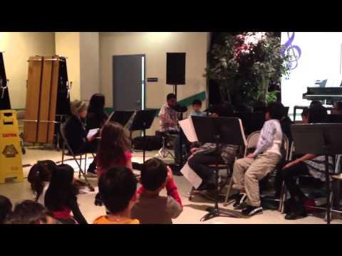 Shivam Vyas at Herman Elementary school performance