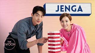 Jung Yu-mi and Nam Joo-hyuk play Jenga [ENG SUB]