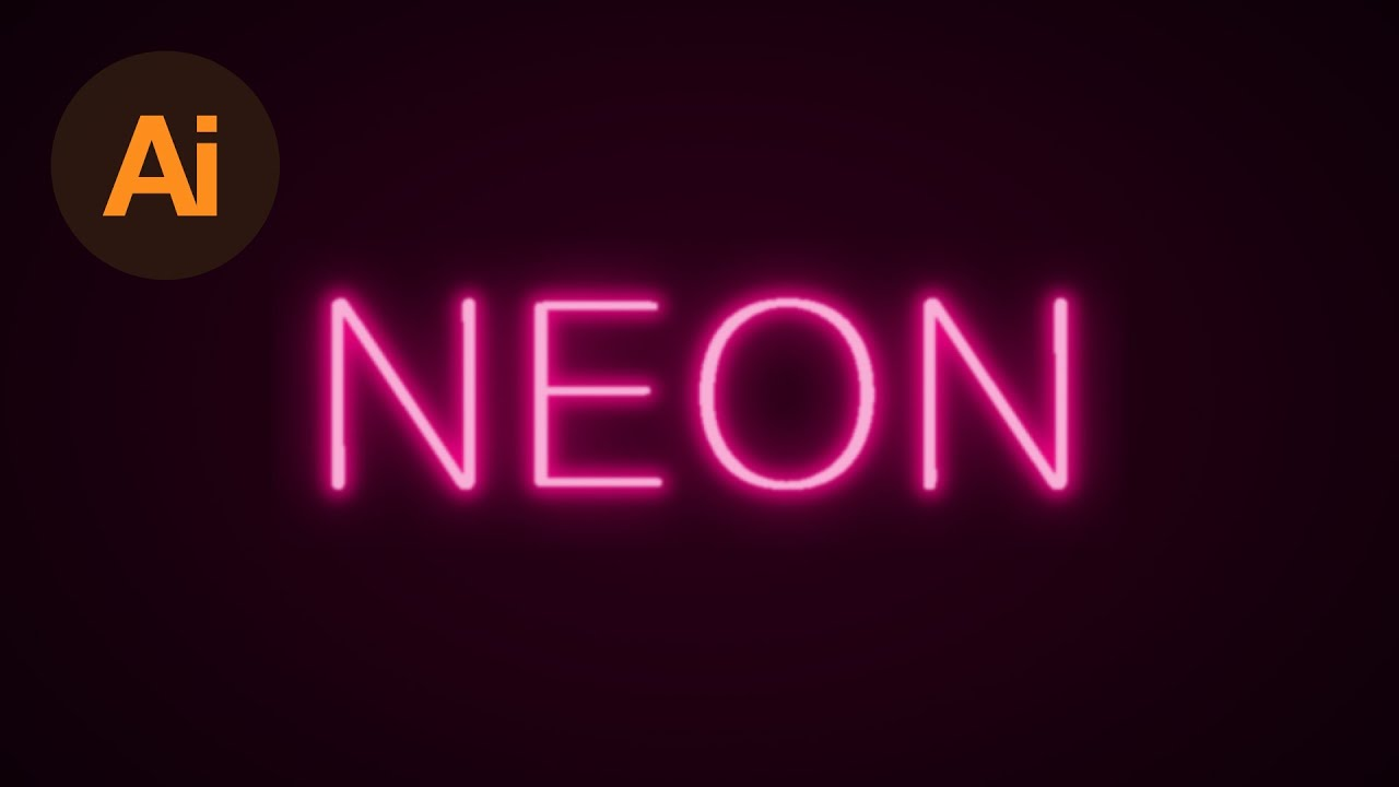 Learn How To Create A Neon Text Effect In Adobe Illustrator  Dansky   Youtube