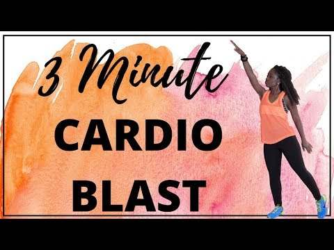 3 Minute Cardio Blast - Follow Along | Realistic Fitness