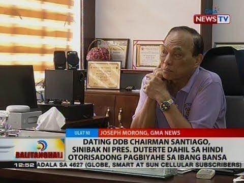 Santiago, sinibak ni Pres. Duterte dahil sa hindi otorisadong pagbiyage sa ibang bansa
