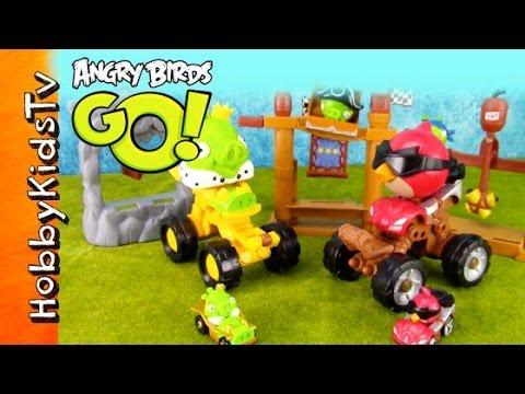 ANGRY BIRDS GO Pig Rock Raceway Story HobbyKidsTV