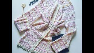 2 Вязание крючком росток.Вязаный кардиган .Кружево платье крючком вязание для женщин
