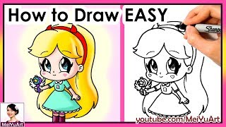 How to Draw Cute Star EASY | Fan Friday | Fun2draw MeiYuArt