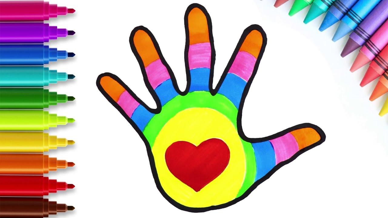 Cómo dibujar una mano con un corazón - Dibujos divertidos para niños | Chiki-Arte Aprende a Dibujar