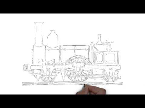 วาดรูป รถไฟ Draw a train