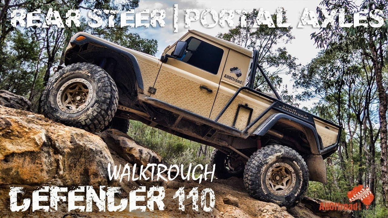 ULTIMATE LAND ROVER DEFENDER 110 WALKTROUGH   PORTAL AXLE   4WD   REAR  STEER   ALLOFFROAD#136