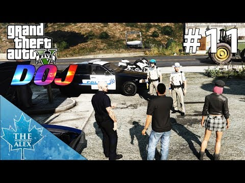 GTA V Department of Justice #11 -Lights.. Camera.. Arrest !- Civilian