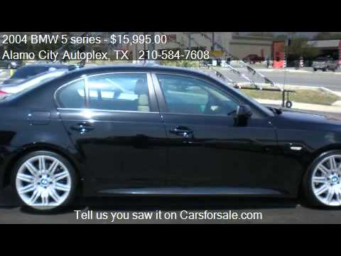 2004 BMW 5 series 545i M SPORT PACKAGE - for sale in Univers - YouTube