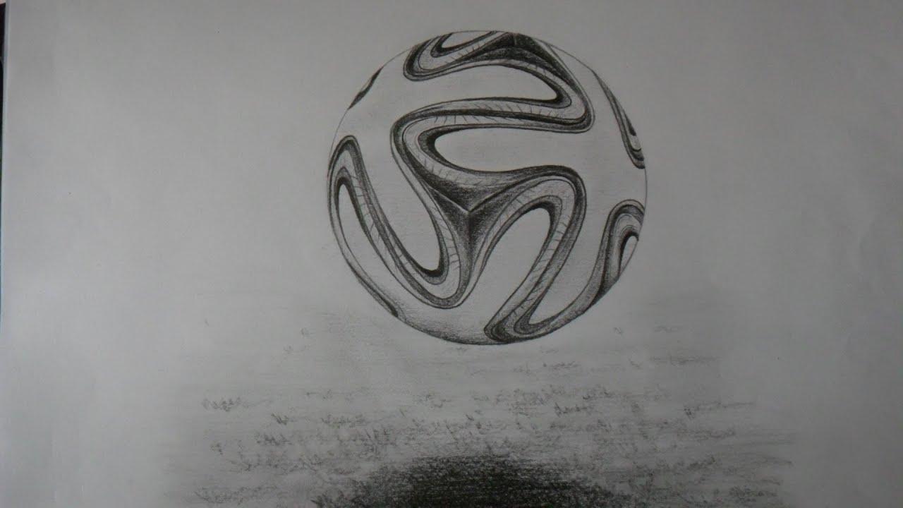 Cómo Dibujar Un Balón De Fútbol Fácil: BALÓN DE FÚTBOL MUNDIAL 2014. BOCETO A LÁPIZ.
