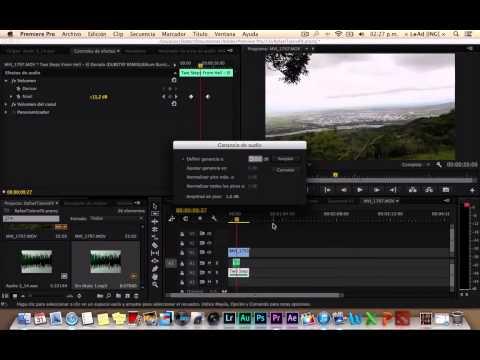 Como trabajar bajar y subir el audio en Premiere PRO  Trabajando con Keyframes