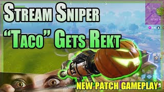 NEW FORTNITE UPDATE! STREAM SNIPER TACO GETS OWNED!