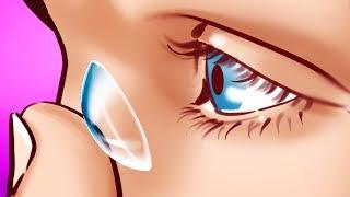 Не купайтесь в контактных линзах