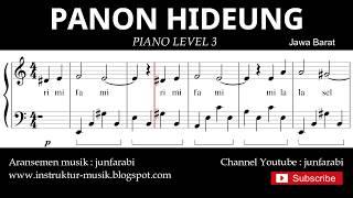 notasi balok panon hideung - piano grade 3 - lagu daerah jawa barat - instrumental