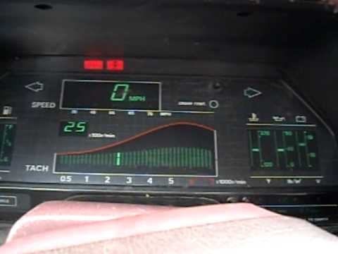 1986 Nissan 300zx Digital Dash Rev Youtube