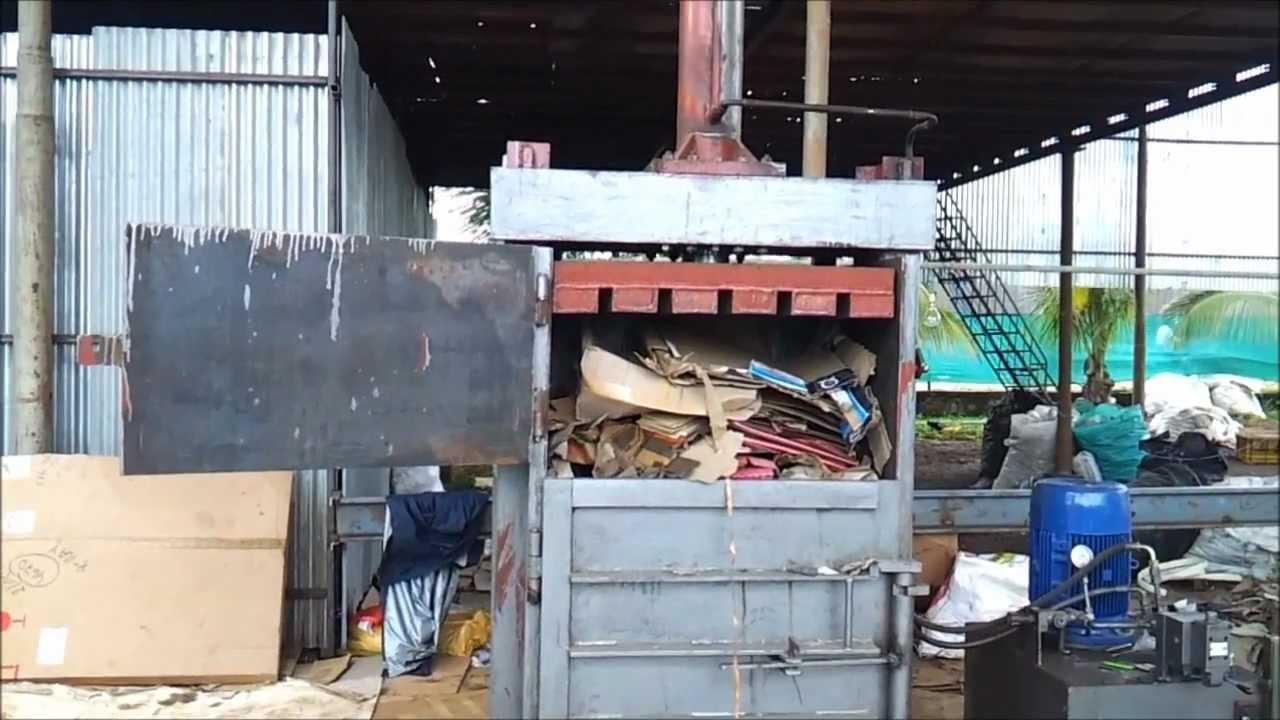 single box hydraulic baling machine to press carton  paper  pet bottles