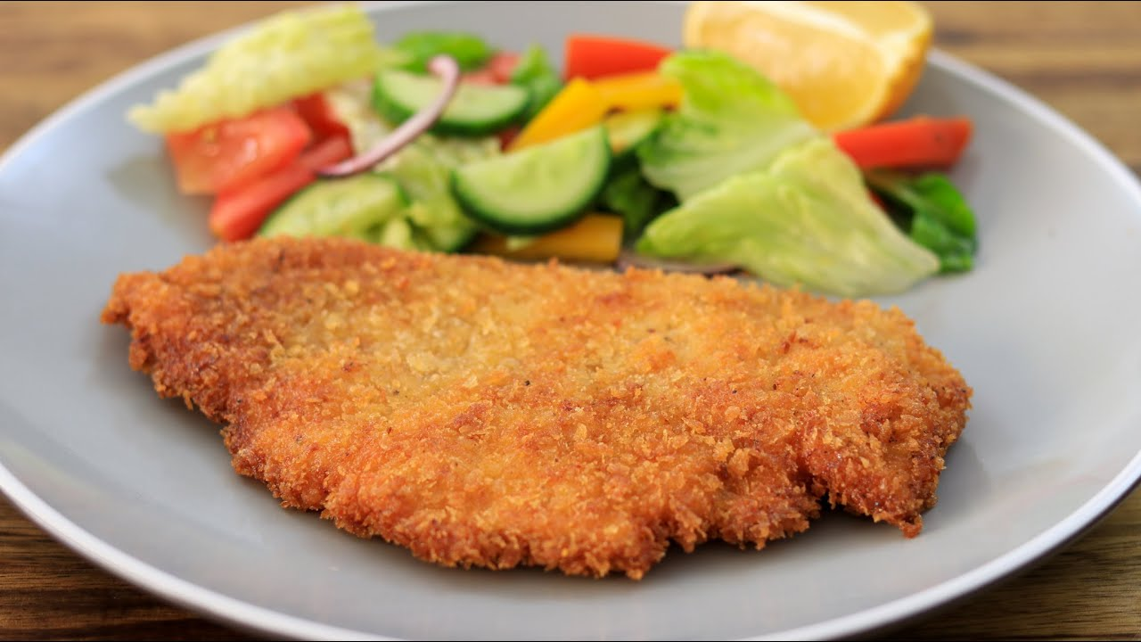Chicken Schnitzel Recipe How To Make Chicken Schnitzel Youtube
