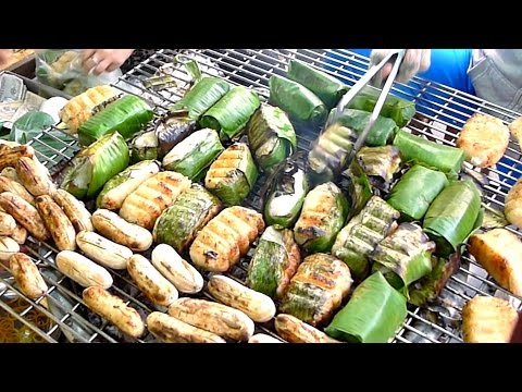 Grilled Banana Wrapped in Sticky Rice (Chuối Bọc Nếp Nướng)