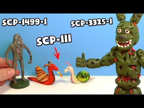 Многоглаз SCP-1499-1, Аниматроник Спрингтрап SCP 3325 і SCP-111 Дракоулитки - Ліпимо з пластиліну