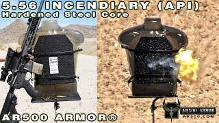 5.56 Incendiary (API) vs. AR500 Armor® Level III Body Armor