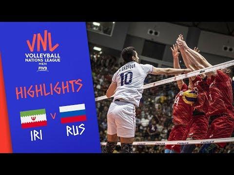 IRAN Vs. RUSSIA - Highlights Men   Week 3   Volleyball Nations League 2019