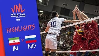 IRAN Vs. RUSSIA - Highlights Men | Week 3 | Volleyball Nations League 2019