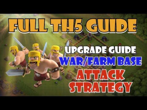 Full TH5 Guide - Upgrade Order, Attack Strategy And The Best TH5 Base Designs - Prepping For TH5 CUP