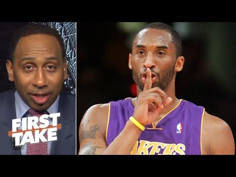 Kobe 'doesn't care' about the NBA GOAT debate - Stephen A. | First Take