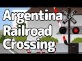 Argentina Railroad Crossing アルゼンチンの踏切アニメ