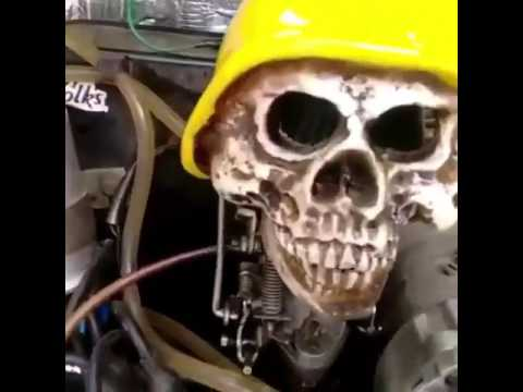 Cool skull car pedal cable of VW Beetle