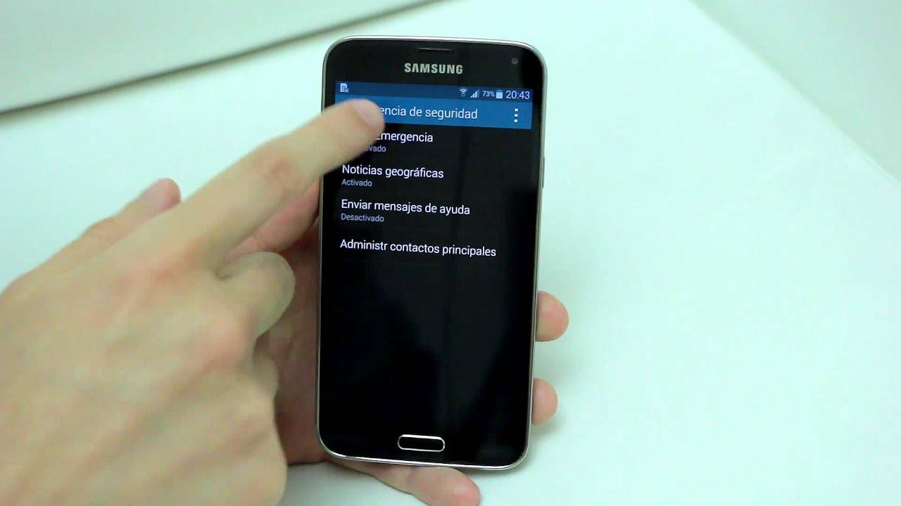 Samsung Argentina   Cómo usar el Asistente de seguridad en tu Galaxy S5 - YouTube