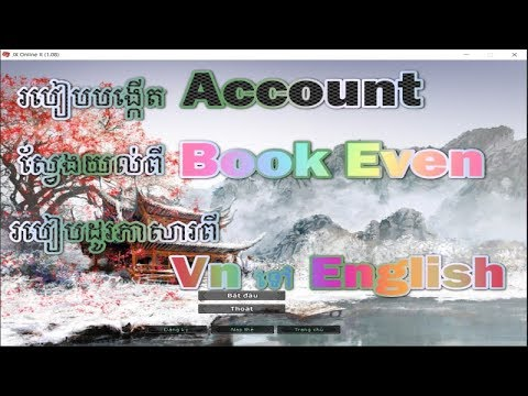 JX-How to create Account and change VN to  English Version 1.08