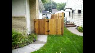 Cedar Dog-eared Board On Board Privacy Fence 612-281-0558