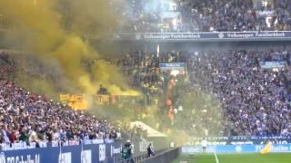 schalke vs dortmund 143 derby pyro show von bxb