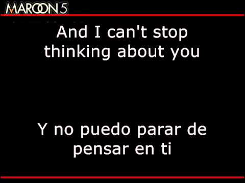 Maroon 5 - Can't Stop HD Subtitulado Español English (lyrics)