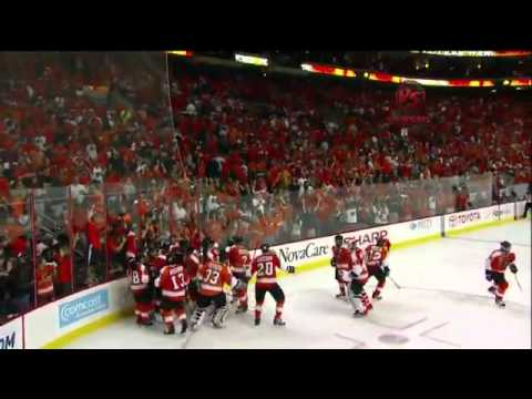 Claude Giroux OT Goal Game 3  2010 Stanley Cup Finals