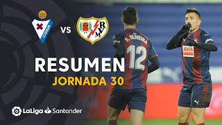 Resumen de SD Eibar vs Rayo Vallecano (2-1)