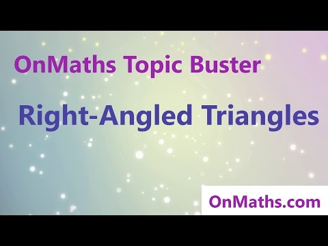 Right Angled Triangles - Revise Grade 4/5 - GCSE Maths Topic Revision (OnMaths.com)