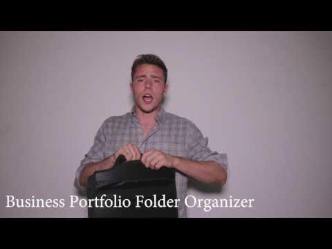 Snail&Hawk Business Portfolio Briefcase Folder Organizer with Zipper Closure and Handle