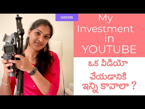 My Investment in YOUTUBE || Sukanya Telugu Vlogs